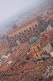 Άποψη από τον πύργο του ιστορικού κέντρου της Μπολόνιας Ιταλία στοκ φωτογραφία