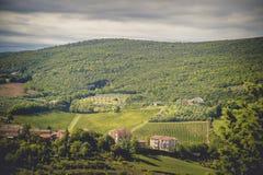 Άποψη από τον τοίχο πόλεων του SAN Gimignano, Ιταλία Στοκ Εικόνες