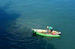 Άποψη από τον ψαρά στον ποταμό της Αμαζώνας στοκ εικόνες