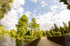 Άποψη από τους κήπους Kew, βασιλικοί βοτανικοί κήποι στο Λονδίνο στοκ εικόνες με δικαίωμα ελεύθερης χρήσης