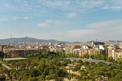 Άποψη από τους χώρους de Βαρκελώνη Στοκ Φωτογραφία
