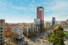 Άποψη από τους χώρους de Βαρκελώνη Στοκ Εικόνες