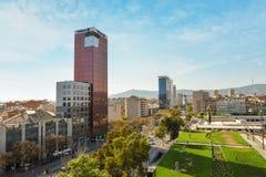 Άποψη από τους χώρους de Βαρκελώνη Στοκ φωτογραφία με δικαίωμα ελεύθερης χρήσης