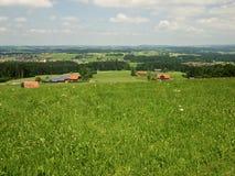Άποψη από τους λόφους στη νότια Γερμανία Στοκ εικόνα με δικαίωμα ελεύθερης χρήσης