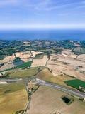 Άποψη από το αεροπλάνο στην ακτή, Ιταλία, Riccione Στοκ φωτογραφία με δικαίωμα ελεύθερης χρήσης