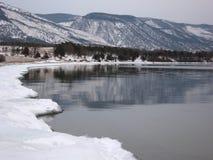 Άποψη από το ακρωτήριο Uyuga στη λίμνη Baikal Στοκ εικόνα με δικαίωμα ελεύθερης χρήσης