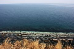 Άποψη από το ακρωτήριο Vyatlina, νησί Russky στοκ φωτογραφία με δικαίωμα ελεύθερης χρήσης