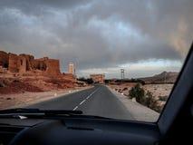 Άποψη από το αυτοκίνητο Εθνική οδός Μαρόκο Στοκ Φωτογραφία