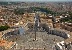 Άποψη από το Βατικανό Στοκ φωτογραφία με δικαίωμα ελεύθερης χρήσης