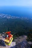 Άποψη από το βουνό AI-Petri funicular Στοκ φωτογραφίες με δικαίωμα ελεύθερης χρήσης