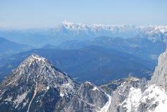 Άποψη από το βουνό Dachstein Στοκ φωτογραφία με δικαίωμα ελεύθερης χρήσης