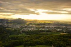 Άποψη από το βουνό Gempen στοκ εικόνα με δικαίωμα ελεύθερης χρήσης