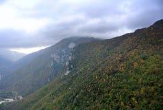 Άποψη από το βουνό Ginguno, Marche, Ιταλία Στοκ εικόνες με δικαίωμα ελεύθερης χρήσης