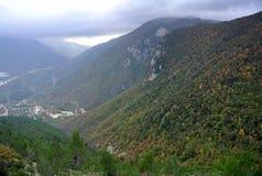 Άποψη από το βουνό Ginguno, Marche, Ιταλία Στοκ φωτογραφία με δικαίωμα ελεύθερης χρήσης