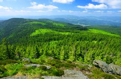 Άποψη από το βουνό Grosser Arber, Γερμανία Στοκ φωτογραφία με δικαίωμα ελεύθερης χρήσης