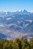 Άποψη από το βουνό Rennfeld στην πόλη Bruck ένα MUR der Στοκ φωτογραφία με δικαίωμα ελεύθερης χρήσης