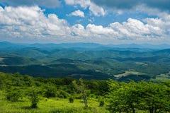 Άποψη από το βουνό Whitetop, κομητεία του Grayson, Βιρτζίνια, ΗΠΑ στοκ εικόνα