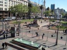Άποψη από το διάσημο κυβερνητικό σπίτι Casa Rosada μπαλκονιών της Αργεντινής Στοκ εικόνα με δικαίωμα ελεύθερης χρήσης