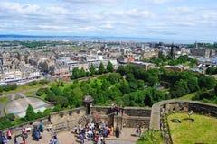Άποψη από το Εδιμβούργο Castle Στοκ Εικόνες