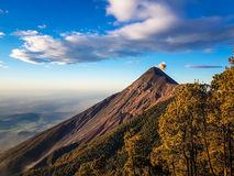 Άποψη από το ηφαίστειο Acatenango, Γουατεμάλα Στοκ Φωτογραφίες