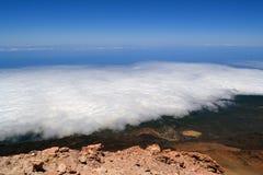 Άποψη από το ηφαίστειο Pico del Teide Tenerife Στοκ εικόνα με δικαίωμα ελεύθερης χρήσης
