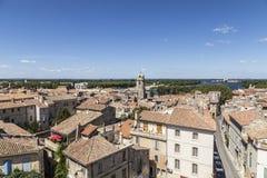 Άποψη από το διάσημο χώρο σε Arles στην παλαιά πόλη Στοκ Εικόνα