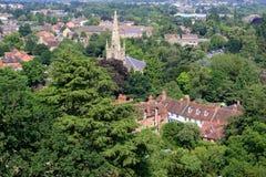 Άποψη από το κάστρο Warwick Στοκ Εικόνα