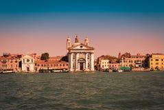 Άποψη από το κανάλι Giudecca, Βενετία, Ιταλία στοκ φωτογραφία με δικαίωμα ελεύθερης χρήσης