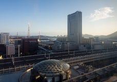 Άποψη από το κτήριο σταθμών Kokura σε Kitakyushu, Ιαπωνία στοκ εικόνες