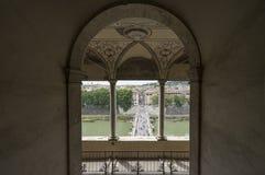 Άποψη από το μαυσωλείο του Αδριανού ή Castel Άγιος Angelo Bridg Στοκ Εικόνες