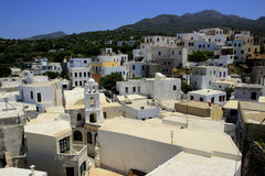 Άποψη από το μοναστήρι Panagia Spiliani στο νησί Nisyros Στοκ Εικόνες