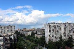 Άποψη από το μπαλκόνι στη μητρόπολη άνοιξη στοκ φωτογραφίες με δικαίωμα ελεύθερης χρήσης