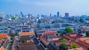 Άποψη από το ναό Bangkokστοκ φωτογραφία