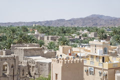 Άποψη από το οχυρό Nizwa στοκ εικόνες με δικαίωμα ελεύθερης χρήσης