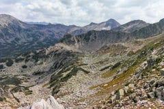 Άποψη από το πέρασμα Banderitsa, βουνό Pirin Στοκ Φωτογραφίες