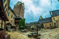 Άποψη από το παλαιό κάστρο Loket στοκ εικόνες