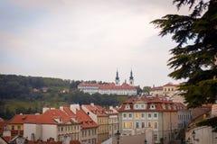 Άποψη από το πανόραμα κάστρων της Πράγας στοκ εικόνες με δικαίωμα ελεύθερης χρήσης