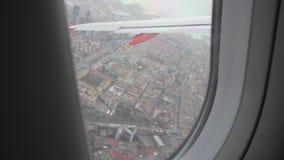Άποψη από το παράθυρο αεροπλάνων στη Νάπολη απόθεμα βίντεο