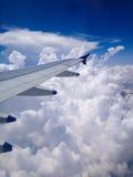 Άποψη από το παράθυρο αεροπλάνων Στοκ Φωτογραφίες