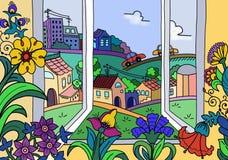 Άποψη από το παράθυρο απεικόνισης απεικόνιση αποθεμάτων