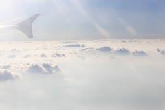 Άποψη από το παράθυρο πτήσης Στοκ Φωτογραφίες