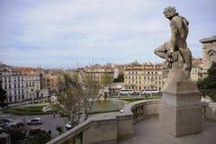 Άποψη από το παλάτι Longchamp στη Μασσαλία Στοκ φωτογραφία με δικαίωμα ελεύθερης χρήσης