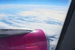 Άποψη από το πετώντας αεροπλάνο Στοκ Εικόνα
