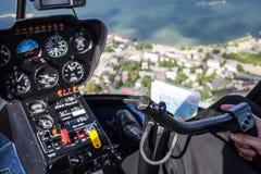 Άποψη από το πετώντας ελικόπτερο Στοκ Εικόνες
