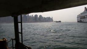 Άποψη από το πορθμείο που πηγαίνει πέρα από το λιμάνι Χονγκ Κονγκ φιλμ μικρού μήκους