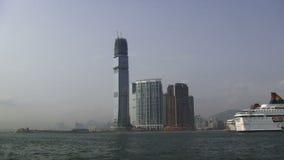 Άποψη από το πορθμείο στο Χονγκ Κονγκ απόθεμα βίντεο