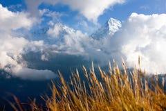 Άποψη από το σημείο άποψης Hill Poon σε Annapurna Hymal Στοκ φωτογραφία με δικαίωμα ελεύθερης χρήσης