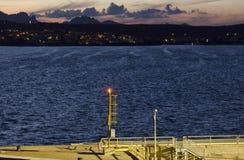 Άποψη από το σκάφος του λιμανιού Στοκ εικόνες με δικαίωμα ελεύθερης χρήσης