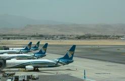 Άποψη από το τερματικό 1 Muscat διεθνής αερολιμένας Ομάν Στοκ φωτογραφία με δικαίωμα ελεύθερης χρήσης