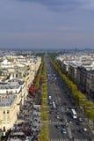 Άποψη από το τόξο de Triomphe Στοκ Εικόνες